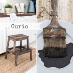 Miss Mustard Seed´s Milk Paint im Farbton Curio, einem dunklen Braun.
