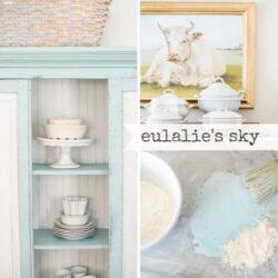 Miss Mustard Seed´s Milk Paint im Farbton Eulalie´s Sky, einem hellen Türkis.