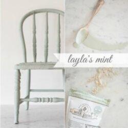 Miss Mustard Seed´s Milk Paint im Farbton Layla´s Mint, einem sanften Mintgrün aus der European Color Line.