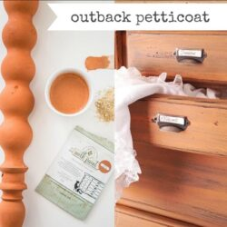 Miss Mustard Seed´s Milk Paint im Farbton Outback Petticoat, einem soften Orange.