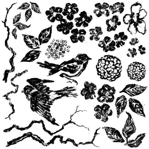 Iron Orchid Designs Vögel und Blumen