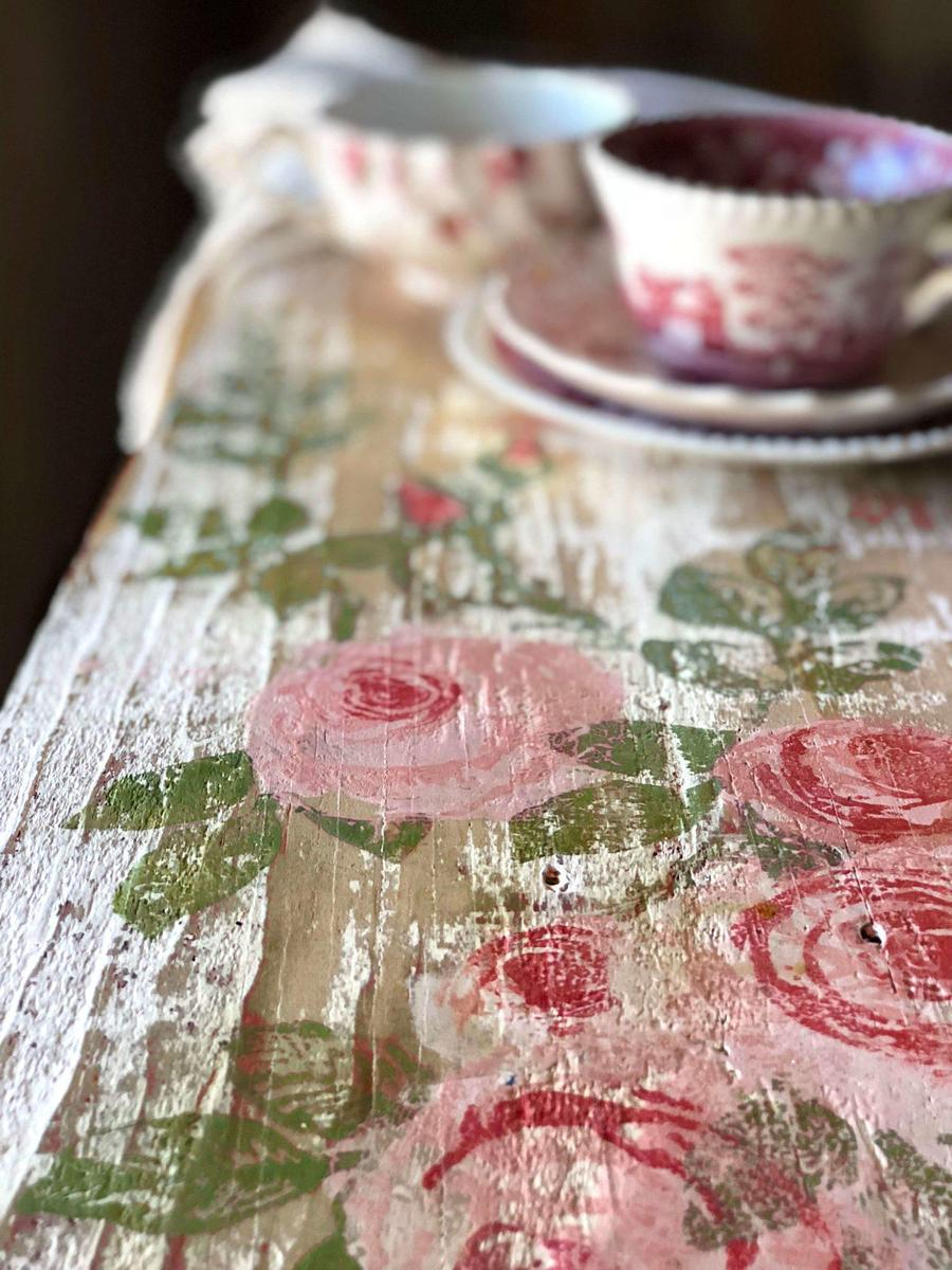 Painterly Roses Stempel Iron Orchid Designs